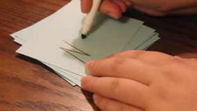 Writing no. Hand writing the word no on a card stock video