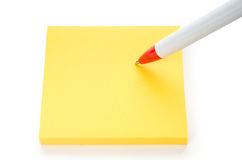 Writing a note Stock Photo