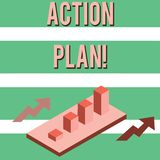 Writing note showing Action Plan. Business photo showcasing proposed strategy or course of actions for certain time vector illustration