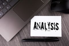 Writing note showing  Analysis. Business photo showcasing Strategic analytic plans for new website growth development written on S. Writing note showing Royalty Free Stock Images