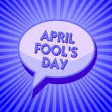 Writing note showing April Fool s is Day. Business photo showcasing Practical jokes humor pranks Celebration funny foolish Sparkli. Ng waves design script text Vector Illustration