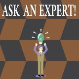 Writing note showing Ask An Expert. Business photo showcasing confirmation that have read understand and agree with. Writing note showing Ask An Expert. Business stock illustration