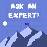 Writing note showing Ask An Expert. Business photo showcasing confirmation that have read understand and agree with. Writing note showing Ask An Expert. Business royalty free illustration