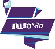 Writing note showing Billboard. Business photo showcasing large outdoor board for displaying advertisements hoarding Quadrangular. Abstract Shape Horizontal stock image