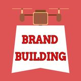 Writing note showing Brand Building. Business photo showcasing Generating awareness Establishing and promoting company. Writing note showing Brand Building vector illustration