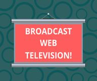 Writing note showing Broadcast Web Television. Business photo showcasing media presentation dispersed over the Internet Portable royalty free stock image