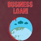 Writing note showing Business Loan. Business photo showcasing Loans provided to small businesses for various purposes. Writing note showing Business Loan royalty free illustration