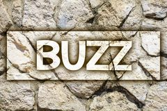 Writing note showing Buzz. Business photo showcasing Hum Murmur Drone Fizz Ring Sibilation Whir Alarm Beep Chime Ideas message st. One stones rock rocks royalty free stock images