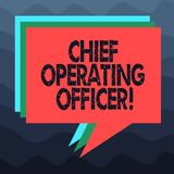 Writing note showing Chief Operating Officer. Business photo showcasing responsible for the daily operation of the. Company Stack of Speech Bubble Different vector illustration