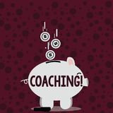 Writing note showing Coaching. Business photo showcasing Prepare Enlightened Cultivate Sharpening Encourage Strenghten. Writing note showing Coaching. Business royalty free illustration