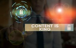 Free Writing Note Showing Content Is King. Business Photo Showcasing Words What Sells Products And Provide Good Marketing. Stock Photo - 165339710