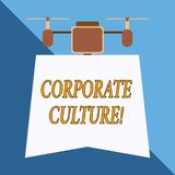 Writing note showing Corporate Culture. Business photo showcasing Beliefs and ideas that a company has Shared values. Writing note showing Corporate Culture vector illustration