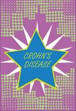 Writing note showing Crohn s is Disease. Business photo showcasing inflammatory disease of the gastrointestinal tract.  vector illustration