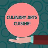 Writing note showing Culinary Arts And Cuisine. Business photo showcasing Chef preparing gourmet foods excellent recipes vector illustration