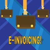 Writing note showing E Invoicing. Business photo showcasing Company encourages use of digital billing. Writing note showing E Invoicing. Business photo stock illustration