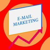 Writing note showing E Mail Marketing. Business photo showcasing Ecommerce Advertising Online sales Newsletters. Writing note showing E Mail Marketing. Business royalty free stock photos