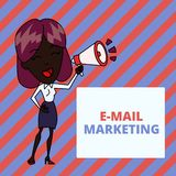 Writing note showing E Mail Marketing. Business photo showcasing Ecommerce Advertising Online sales Newsletters. Writing note showing E Mail Marketing. Business stock photos