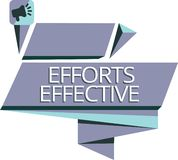 Writing note showing Efforts Effective. Business photo showcasing Produces the results as per desired Goal Target. Achieve vector illustration