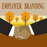 Writing note showing Employer Branding. Business photo showcasing Process of promoting a company Building Reputation