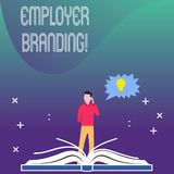 Writing note showing Employer Branding. Business photo showcasing promoting company employer choice to desired target stock photos