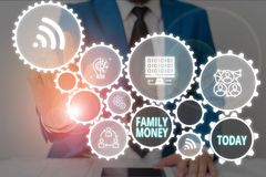 Free Writing Note Showing Family Money. Business Photo Showcasing The Inherited Wealth Of Established Upperclass Families Royalty Free Stock Image - 160650526