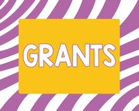 Writing note showing Grants. Business photo showcasing agree to give or allow something requested someone Authorize. Action stock illustration