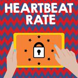 Writing note showing Heartbeat Rate. Business photo showcasing measured by number of times the heart contracts per minute.  vector illustration