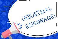 Writing note showing Industrial Espionage. Business photo showcasing form of espionage conducted for commercial purposes. Writing note showing Industrial royalty free illustration