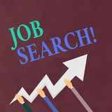 Writing note showing Job Search. Business photo showcasing act of looking for employment due to unemployment. Writing note showing Job Search. Business concept vector illustration