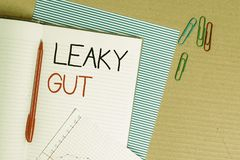 Writing note showing Leaky Gut. Business photo showcasing A condition in which the lining of small intestine is damaged