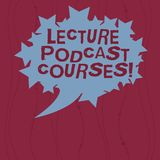Writing note showing Lecture Podcast Courses. Business photo showcasing the online distribution of recorded lecture. Material Blank Oval Color Speech Bubble vector illustration