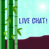 Writing note showing Live Chat. Business photo showcasing Real time media conversation Online communicate Colorful Set. Writing note showing Live Chat. Business vector illustration