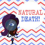 Writing note showing Natural Death. Business photo showcasing occurring in the course of nature and from natural causes. Writing note showing Natural Death vector illustration