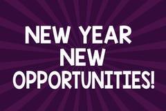 Writing note showing New Year New Opportunities. Business photo showcasing Fresh start Motivation inspiration 365 days Half Tone. Sunburst Beam Explosion Effect vector illustration