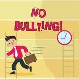 Writing note showing No Bullying. Business photo showcasing stop aggressive behavior among children power imbalance Man. Writing note showing No Bullying stock illustration
