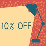 Writing note showing 10 Off. Business photo showcasing Discount of ten percent over regular price Promotion Sale. Clearance stock illustration