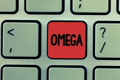 Writing note showing Omega. Business photo showcasing Class of essential fatty acids Lower the levels of cholesterol and. LDL stock image