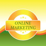 Writing note showing Online Marketing. Business photo showcasing form advertising which uses Internet deliver customer. Writing note showing Online Marketing royalty free stock photo