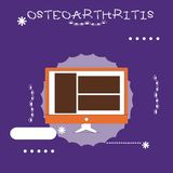 Writing note showing Osteoarthritis. Business photo showcasing Degeneration of joint cartilage and the underlying bone.  vector illustration