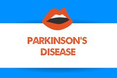 Writing note showing Parkinson s is Disease. Business photo showcasing nervous system disorder that affects movement.  vector illustration