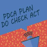 Writing note showing Pdca Plan Do Check Act. Business photo showcasing Deming Wheel improved Process in Resolving Problems stock illustration