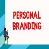 Writing note showing Personal Branding. Business photo showcasing Practice of People Marketing themselves Image as. Writing note showing Personal Branding vector illustration