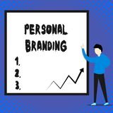 Writing note showing Personal Branding. Business photo showcasing Practice of People Marketing themselves Image as. Writing note showing Personal Branding stock illustration