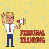 Writing note showing Personal Branding. Business photo showcasing Practice of People Marketing themselves Image as. Writing note showing Personal Branding royalty free illustration