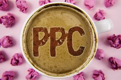 Writing note showing Ppc. Business photo showcasing Pay Per Click Advertising Strategies Direct Traffic to Websites written on Co. Writing note showing Ppc stock images