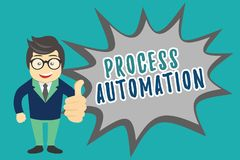 Writing note showing Process Automation. Business photo showcasing Transformation Streamlined Robotic To avoid