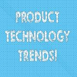 Writing note showing Product Technology Trends. Business photo showcasing Readily accepted in the market Becoming popular Seamless. Polka Dots Pixel Effect for royalty free illustration