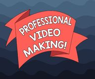 Writing note showing Professional Video Making. Business photo showcasing Filmmaking Images digitally recorded by an expert Folded vector illustration