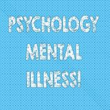 Writing note showing Psychology Mental Illness. Business photo showcasing Psychiatric disorder Mental health condition Seamless. Polka Dots Pixel Effect for Web stock illustration