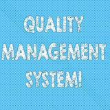 Writing note showing Quality Management System. Business photo showcasing formalized system that documents processes. Seamless Polka Dots Pixel Effect for Web royalty free illustration